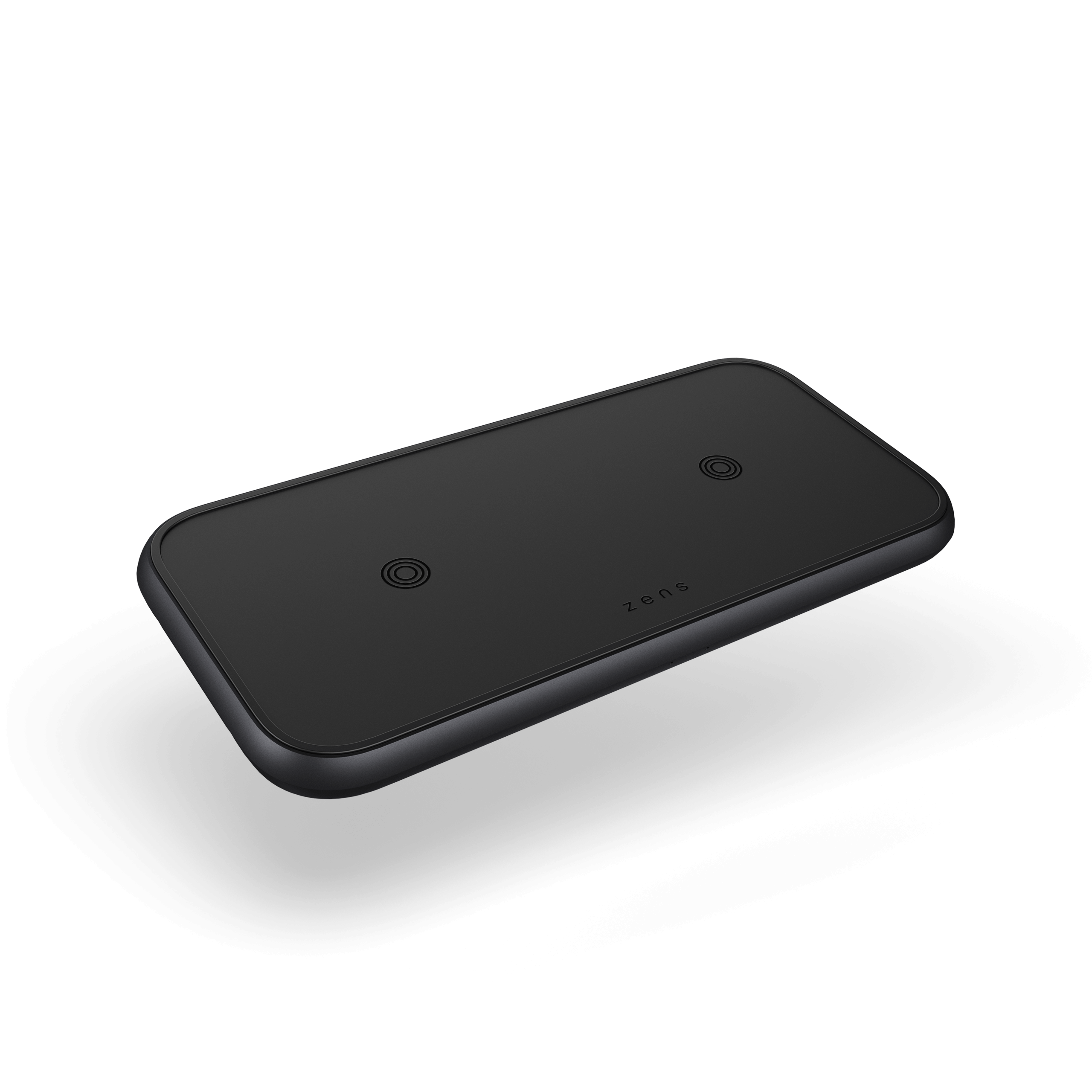 ZEDC10B - Dual Aluminium Wireless Charger Front Side View