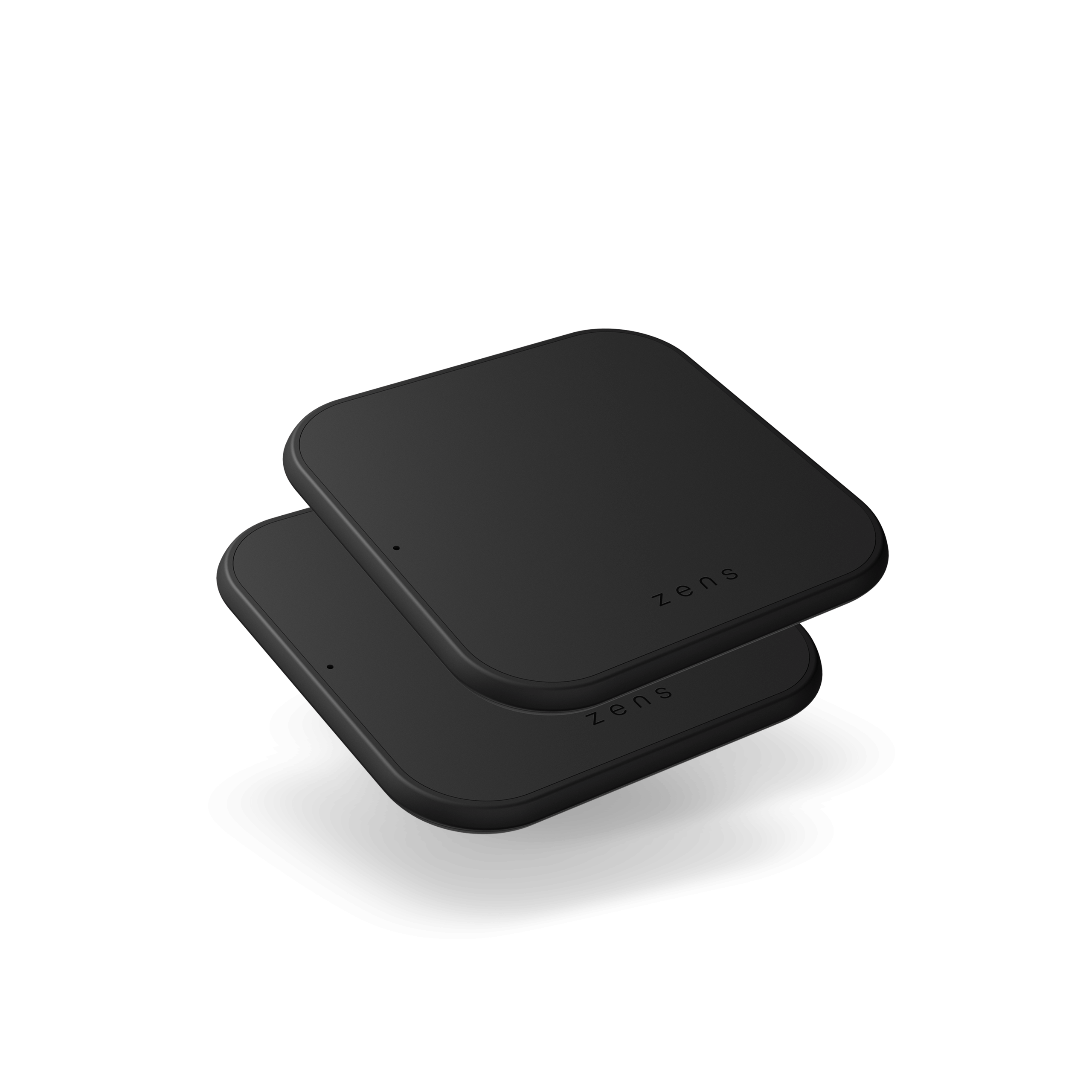 ZESC12B - Zens Single Wireless Charger Slim line Front Side View Twin Pack