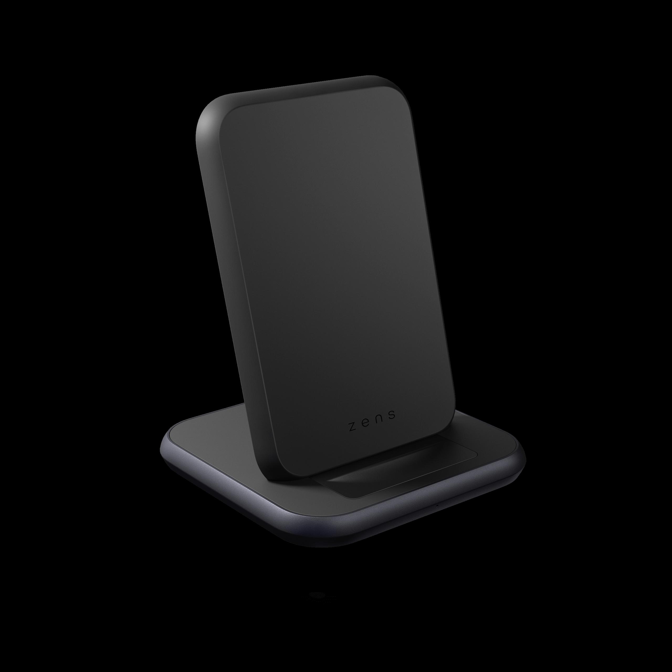 ZESC15B - Zens Stand Aluminium Wireless Charger Front Side View