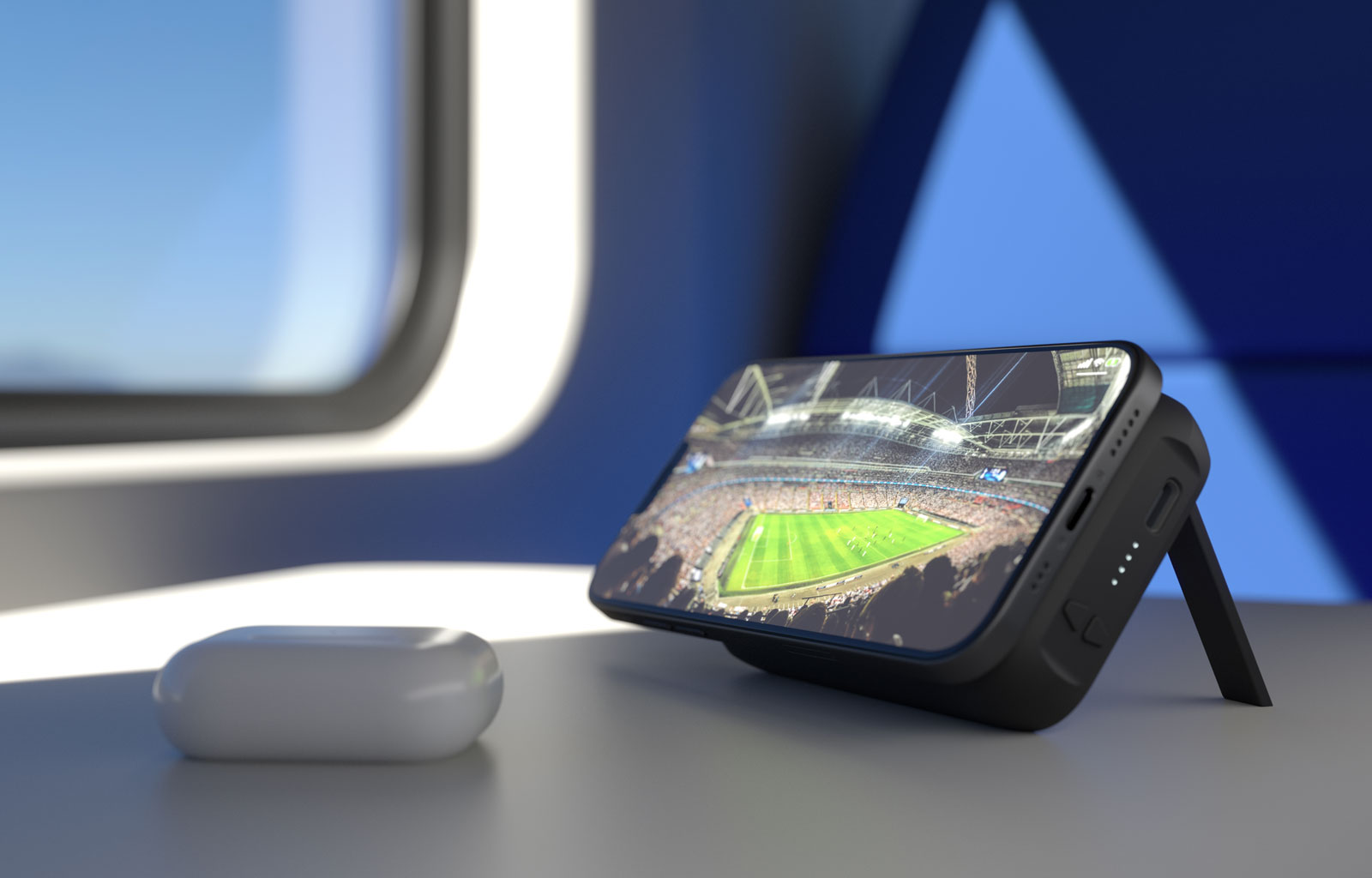 Watching the game with your powerbank