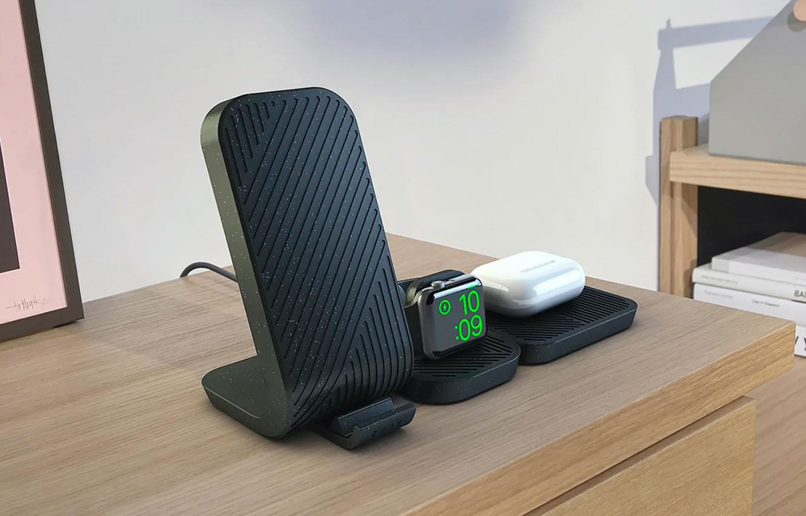 Modular wireless charging set