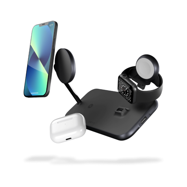ZEDC18B - Magnetic + Watch Wireless Charger with iPhone 13