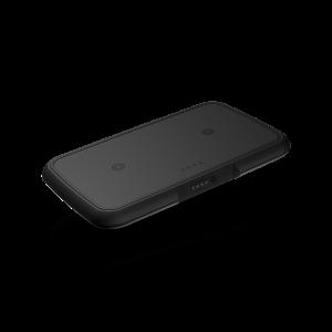 Dual wireless powerbank black