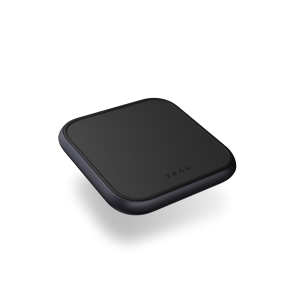 Single charger black aluminium