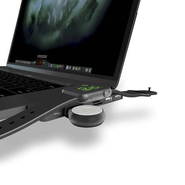 Aluminium Apple Watch USB-stick on macbook