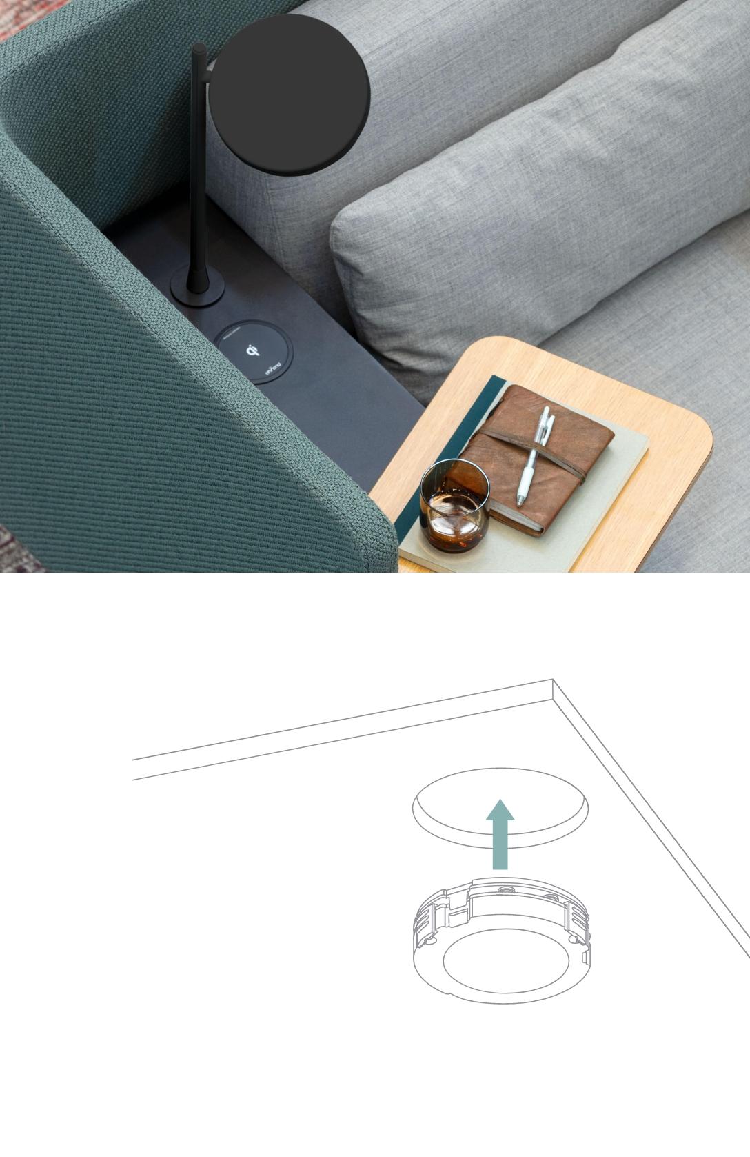 Zens furniture wireless charging
