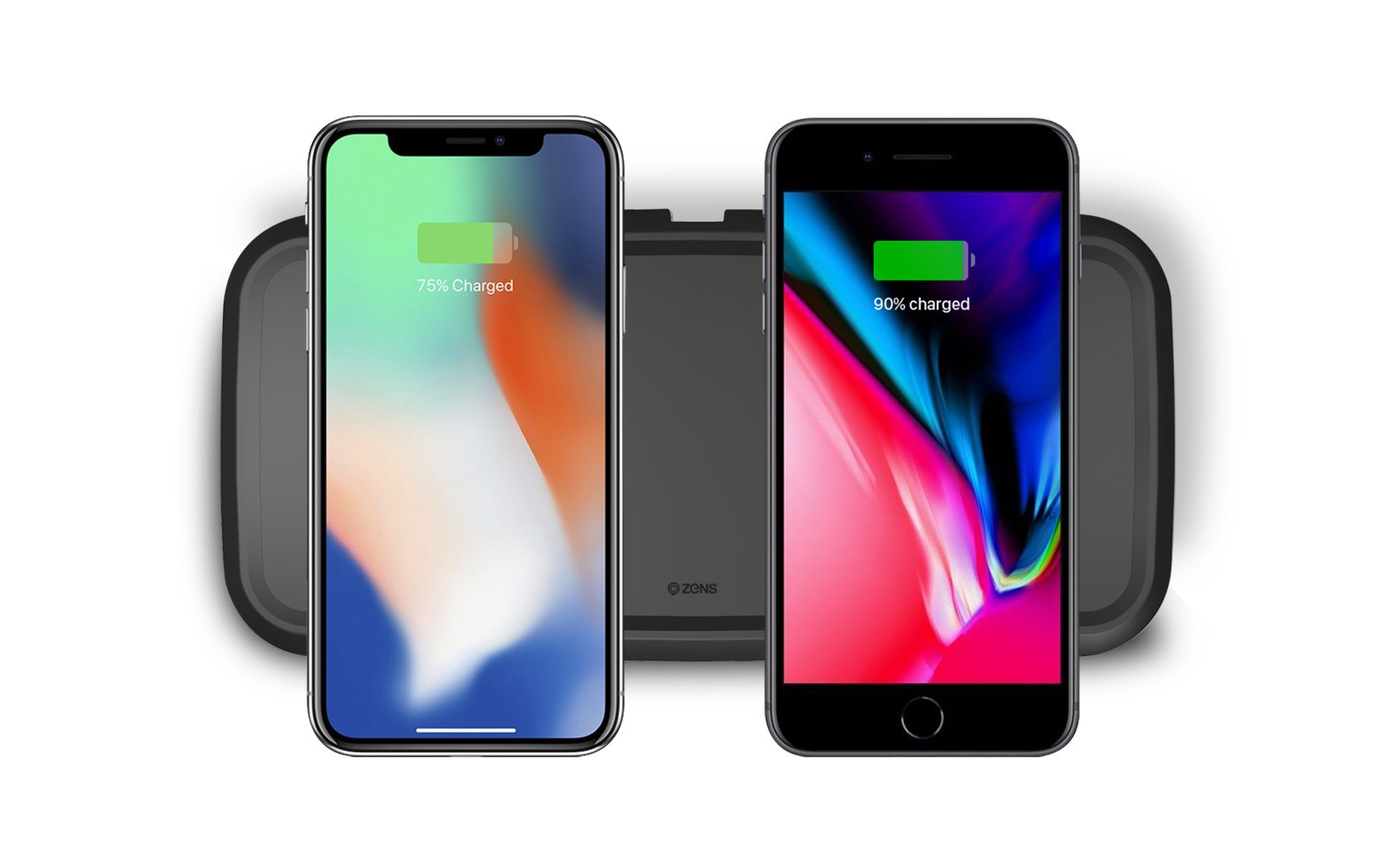 ZENS Dual Fast Wireless Charger Black