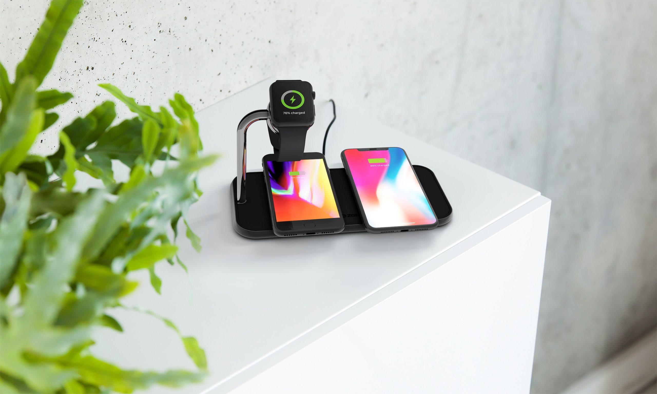 ZENS Dual Aluminium Wireless Charger Lifestyle Image