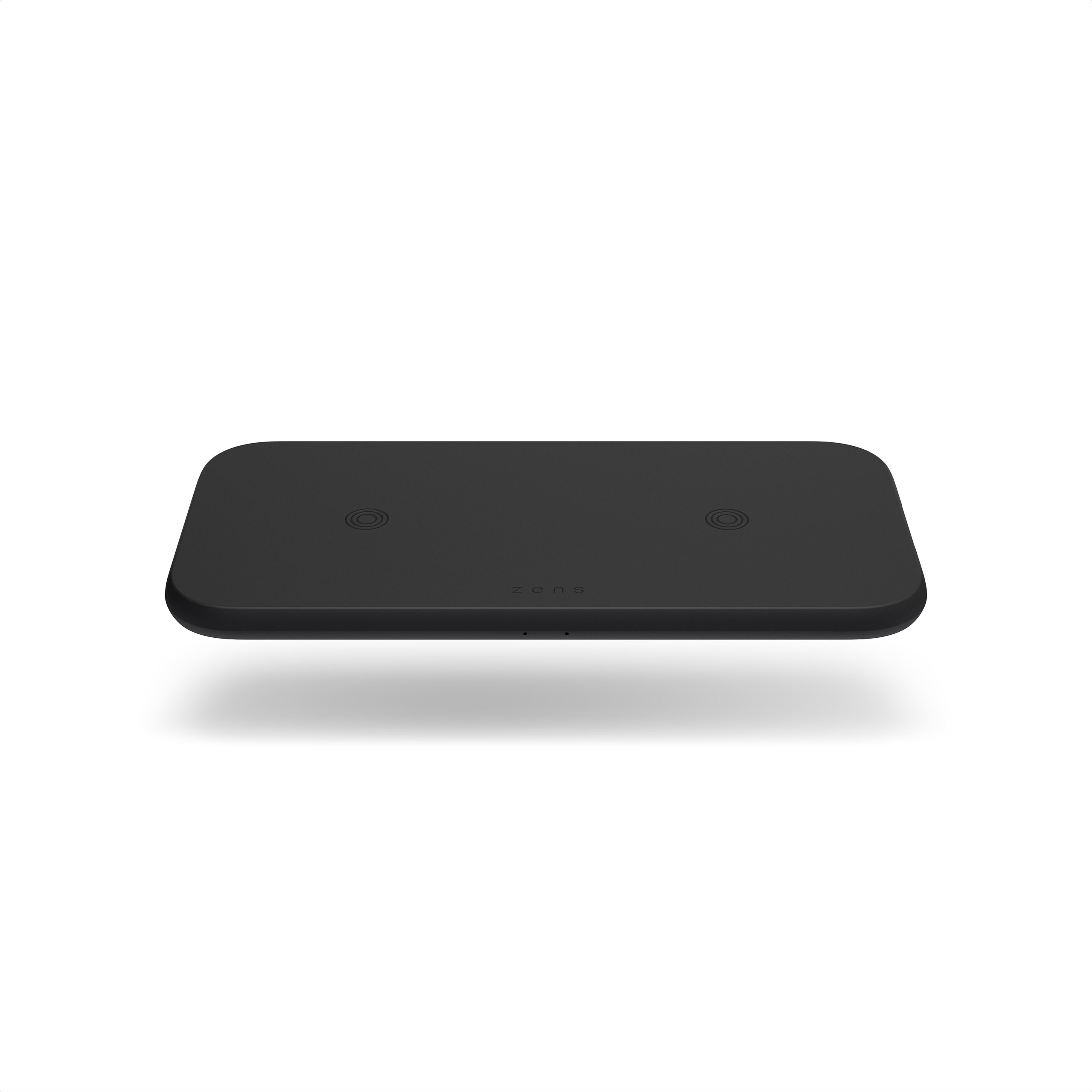 ZEDC12B - Zens Dual Wireless Charger Front Top View