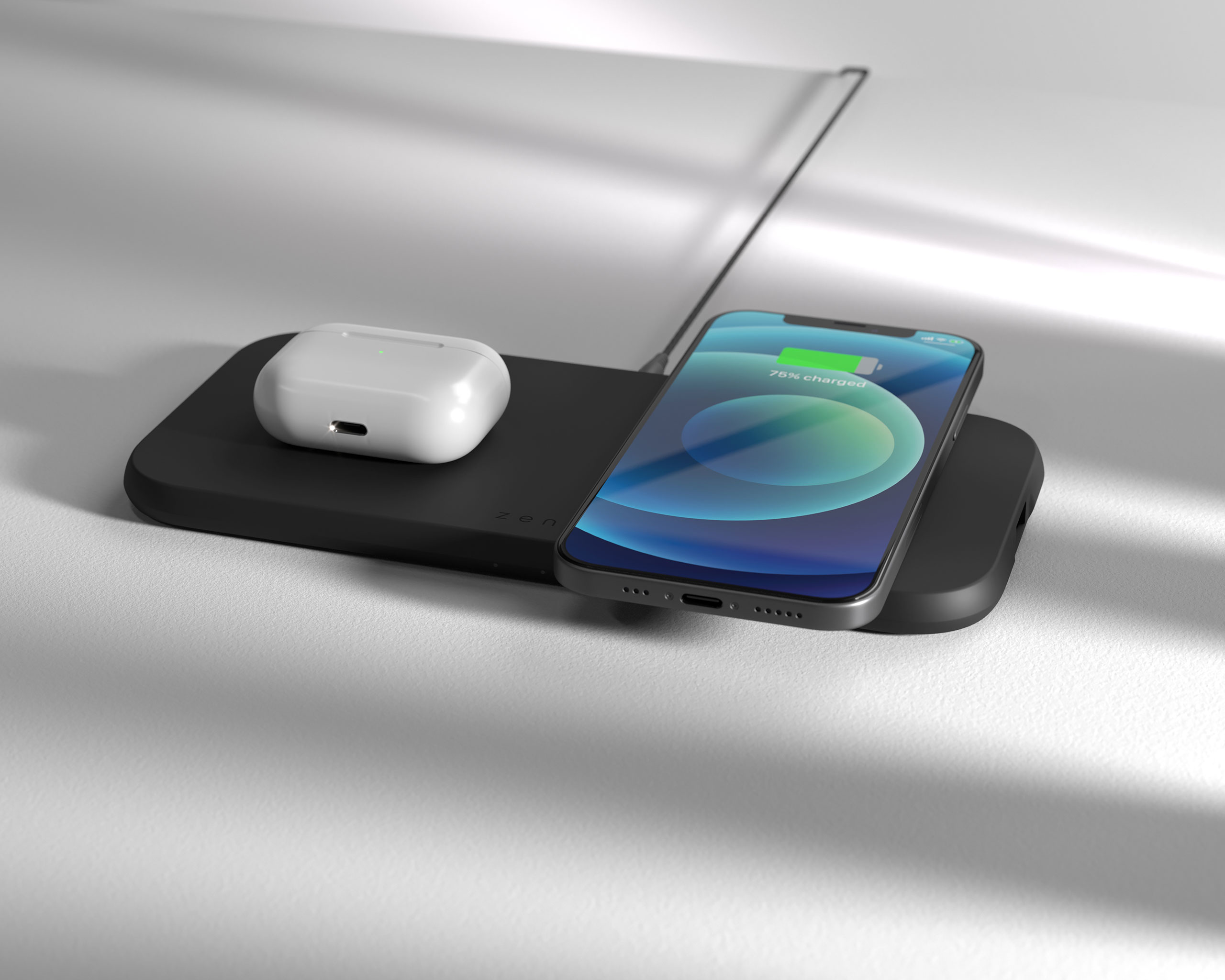 ZEDC12B - Zens Dual Wireless Charger lifestyle