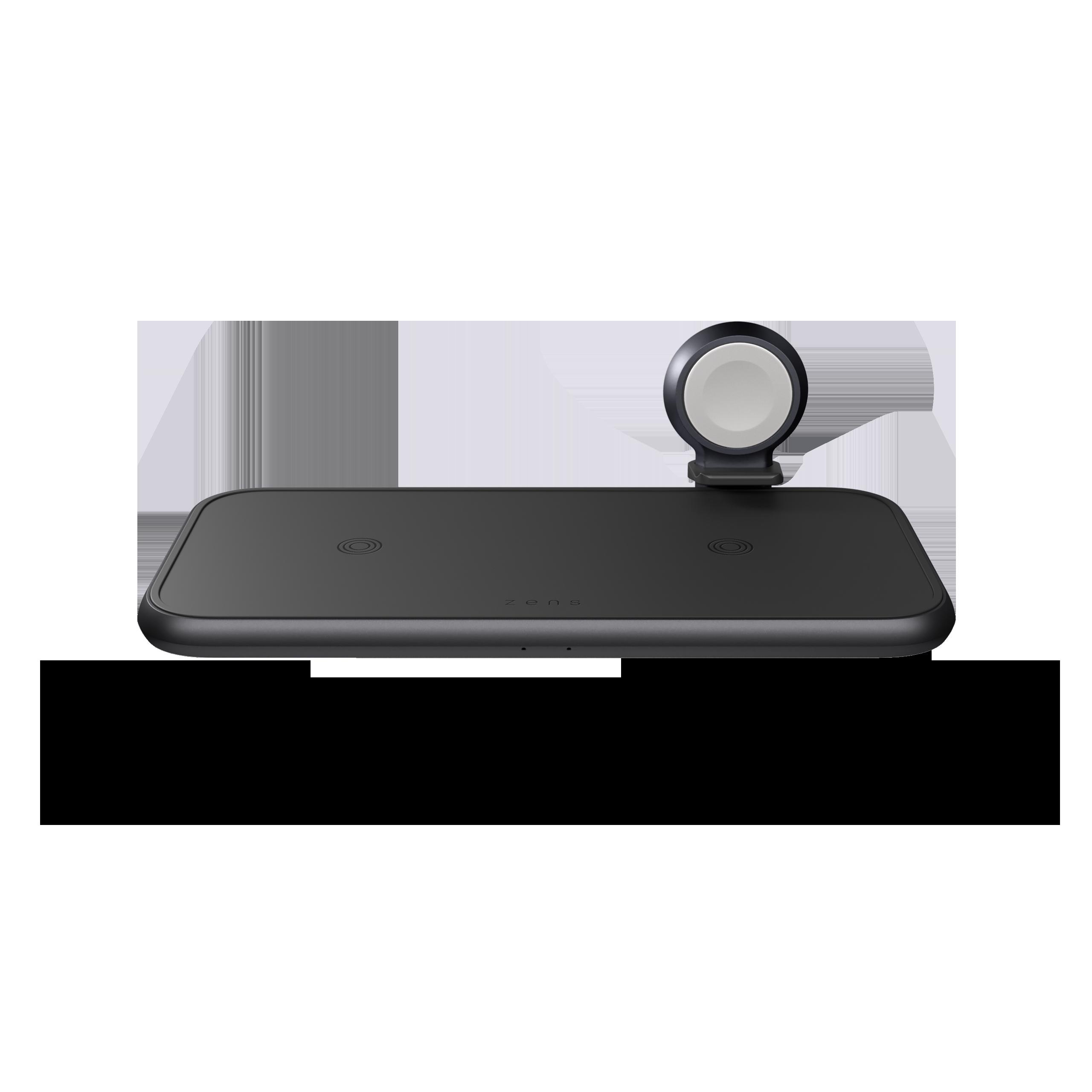 ZEDC14B - Zens 4-in-1 Wireless Charger Aluminium Front Top View