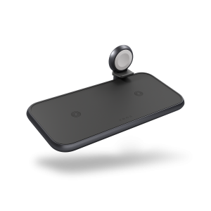 ZEDC14B - Zens 4-in-1 Wireless Charger Aluminium Top Side View
