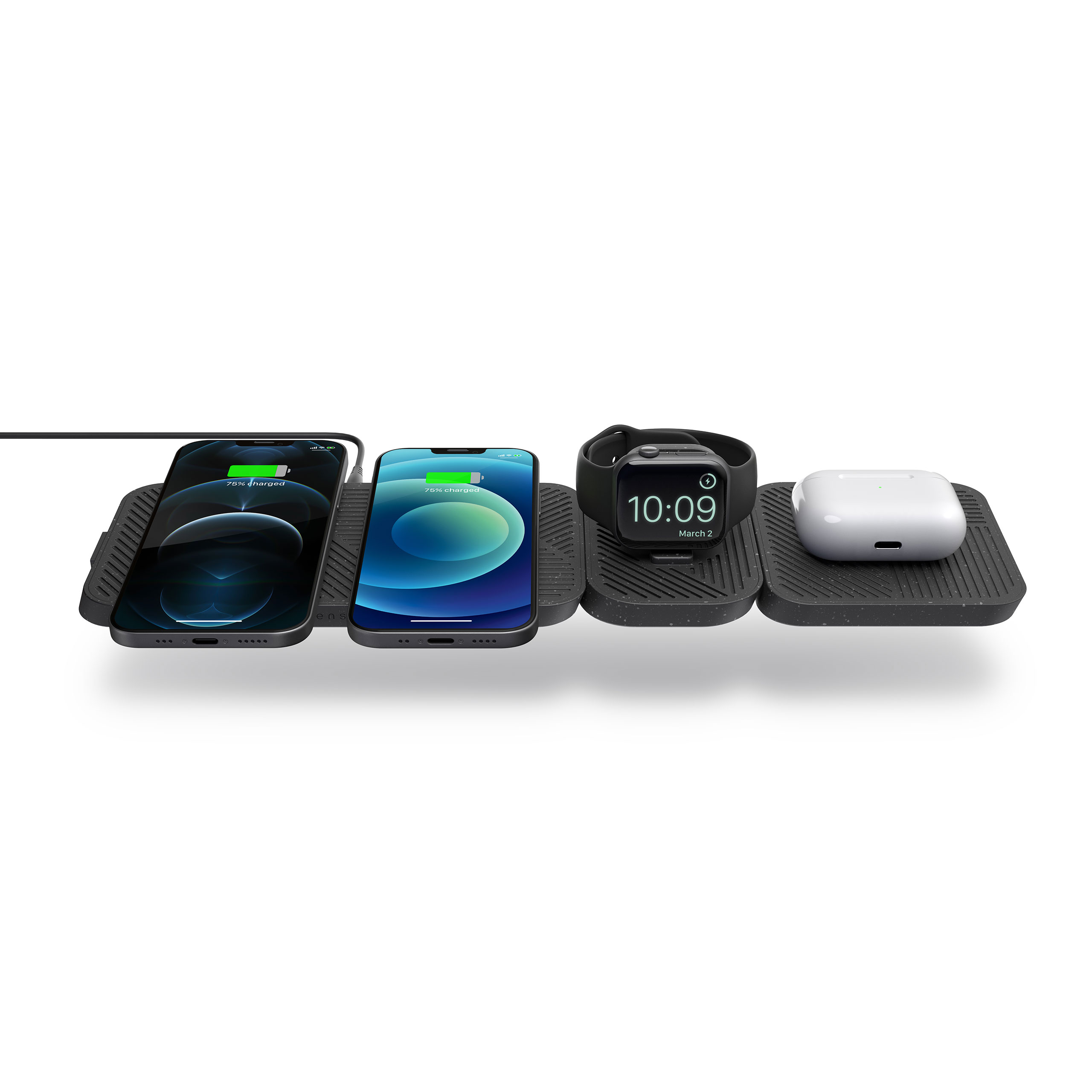 ZEMDC1P - Zens Modular Dual Wireless Charger With Extensions And Devices