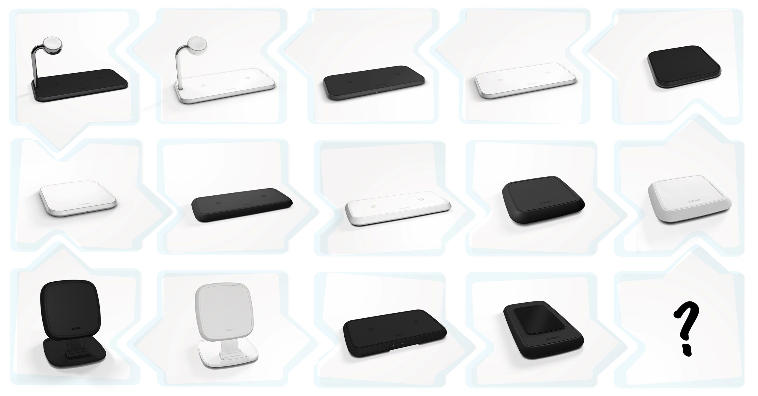 ZENS multiple wireless chargers