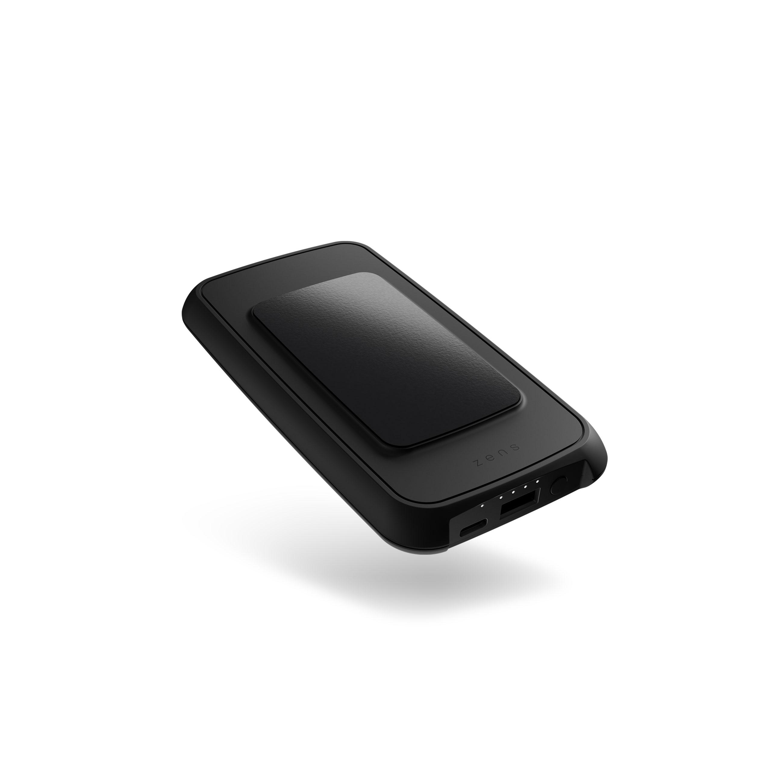 ZEPB03B - Zens Wireless Powerbank with Adhesive Grip Top Side View