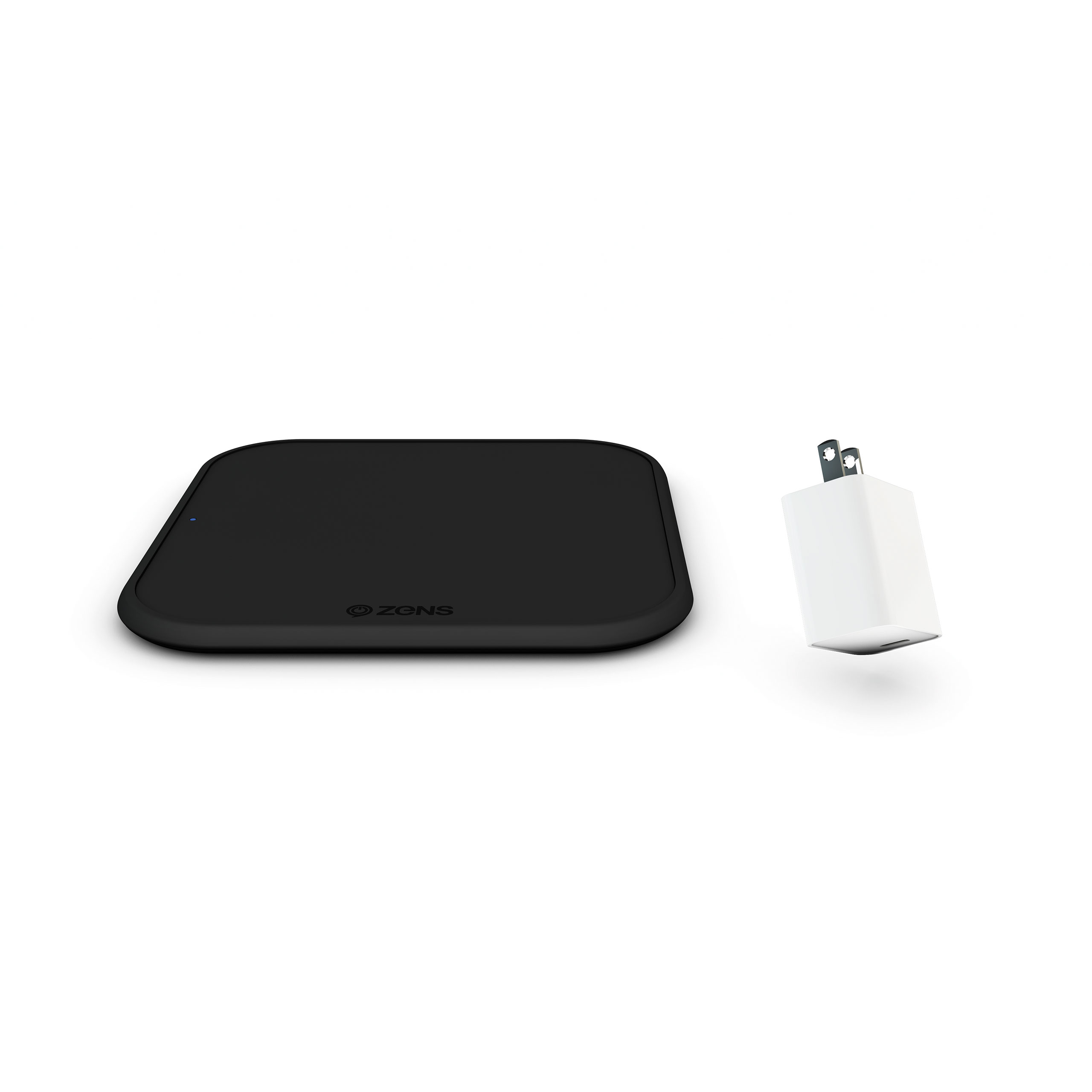 ZESC12BPD/02- Zens iPhone Starter Pack Wireless Charger + Additional 18W USB-C PD Power Adapter Pack Frontview