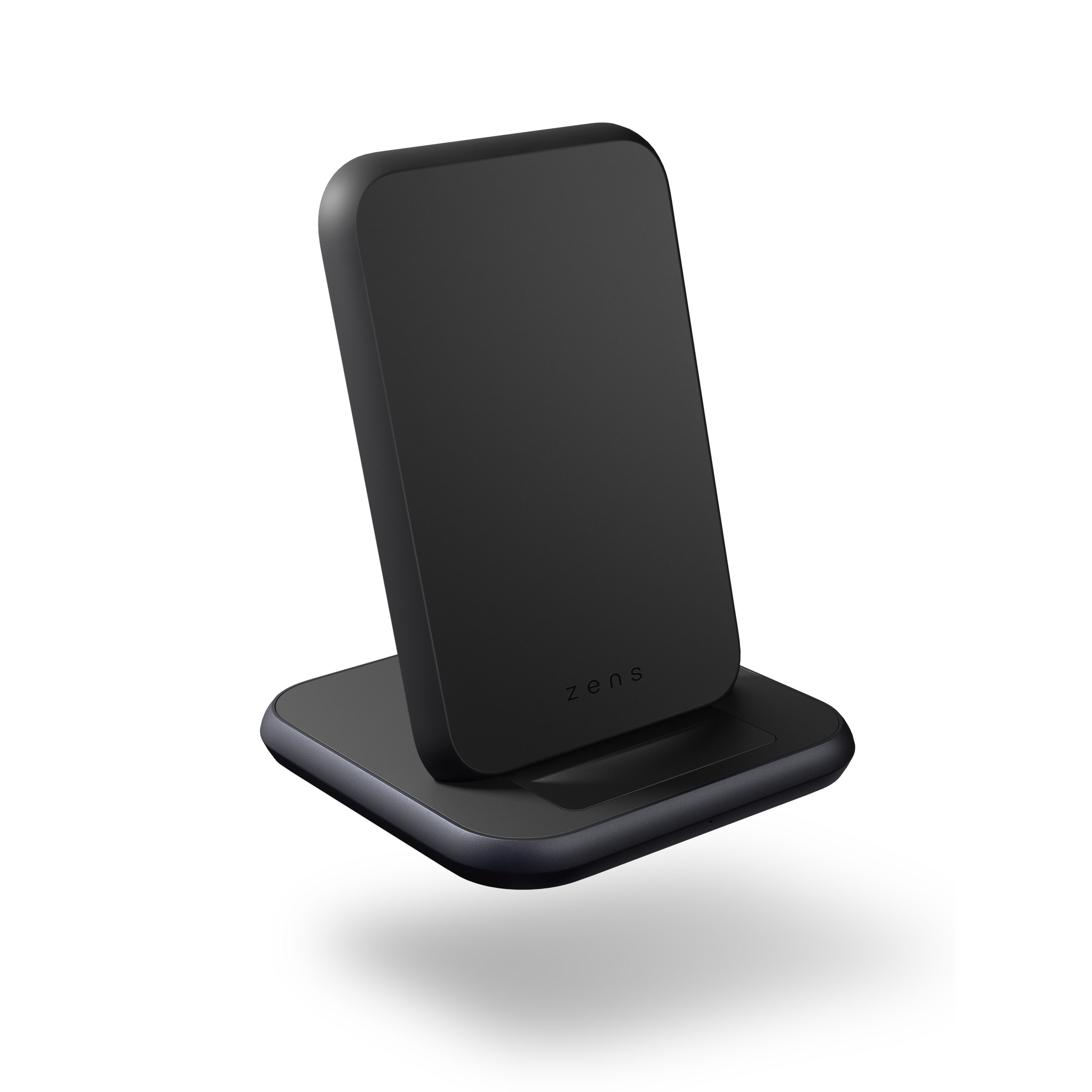 ZESC15B - Zens Stand Aluminium Wireless Charger Front Side View