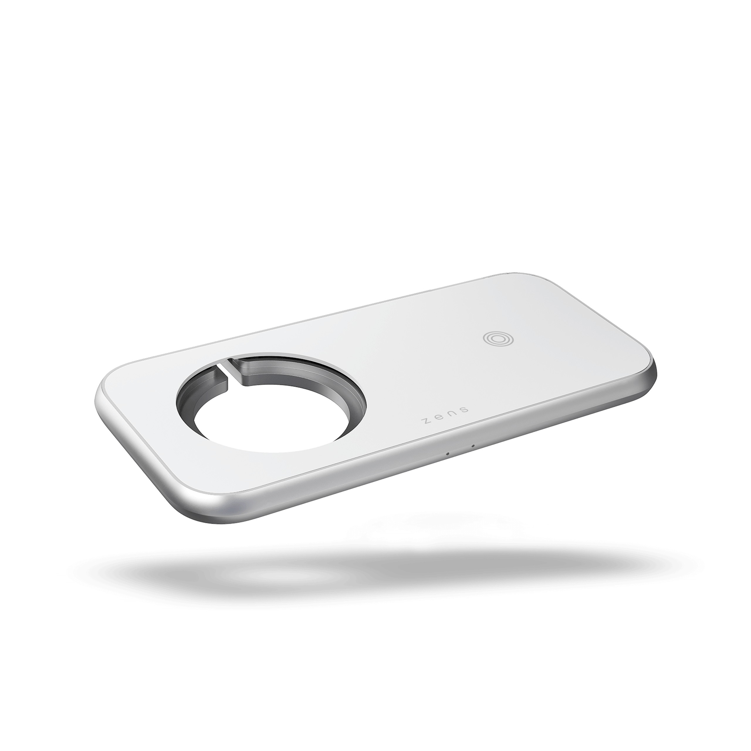 ZEDC16W - Zens Dual Wireless Charger Aluminium Designed for Magsafe