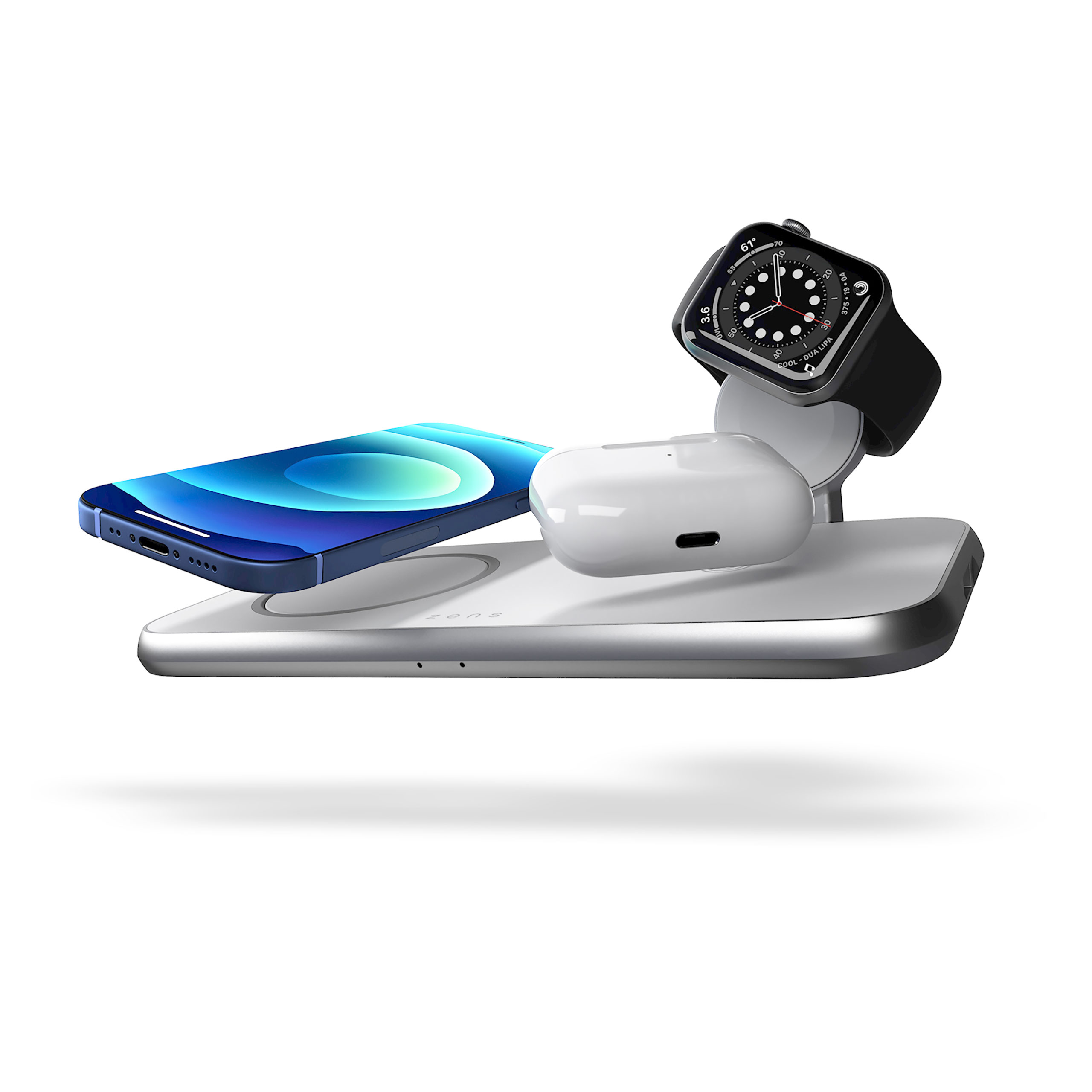 ZEDC17W - Zens 4-in-1 MagSafe Wireless Charger with devices
