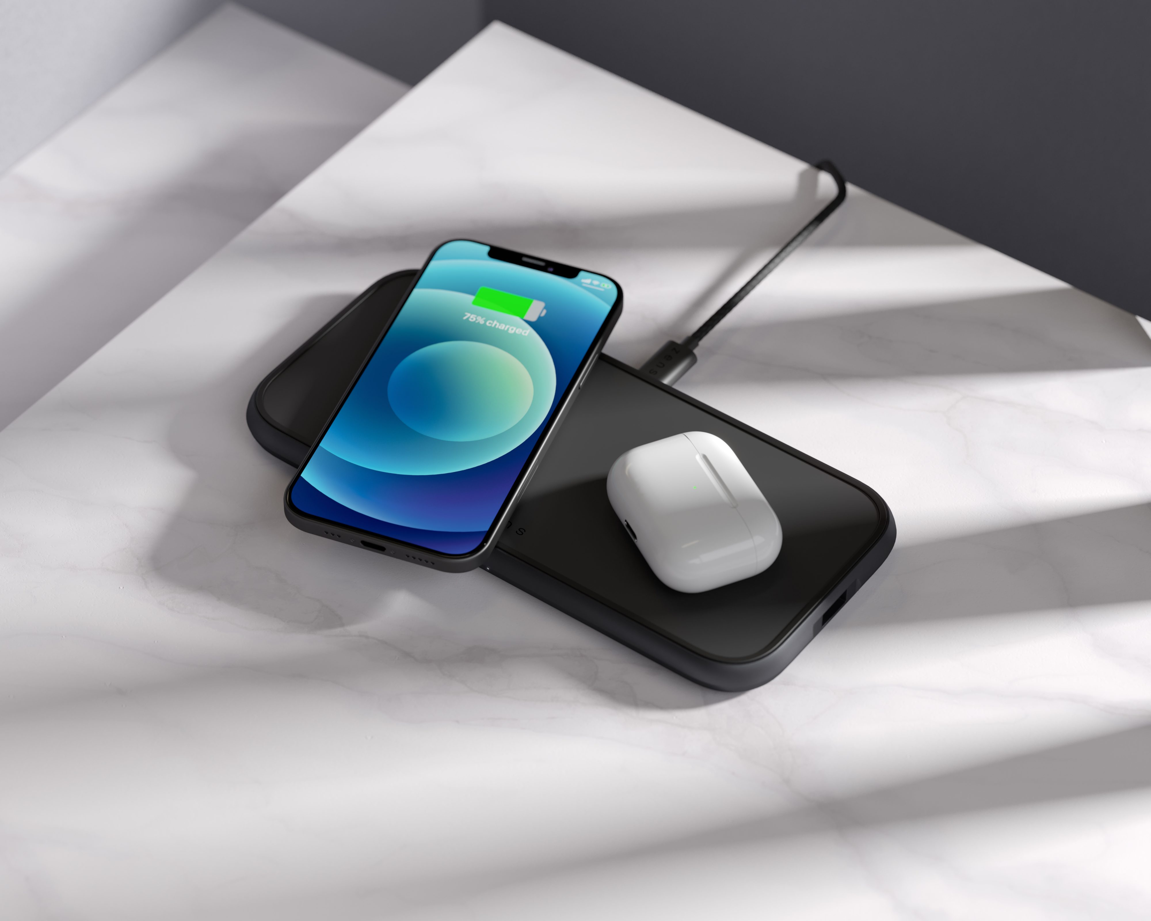 ZEDC11B 5 Coil Dual Fast Wireless Charger Lifestyle