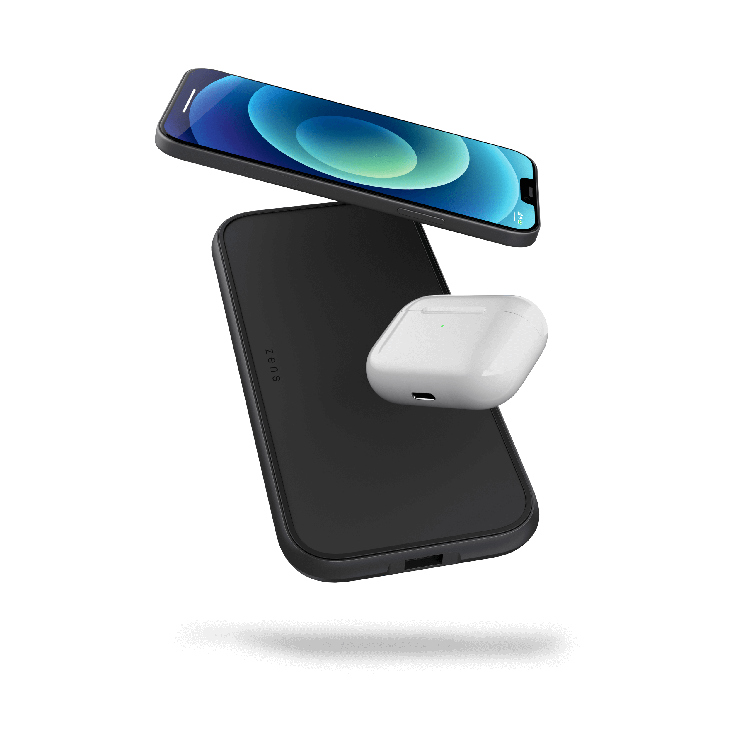 ZEDC11B 5 Coil Dual Fast Wireless Charger Floating Products
