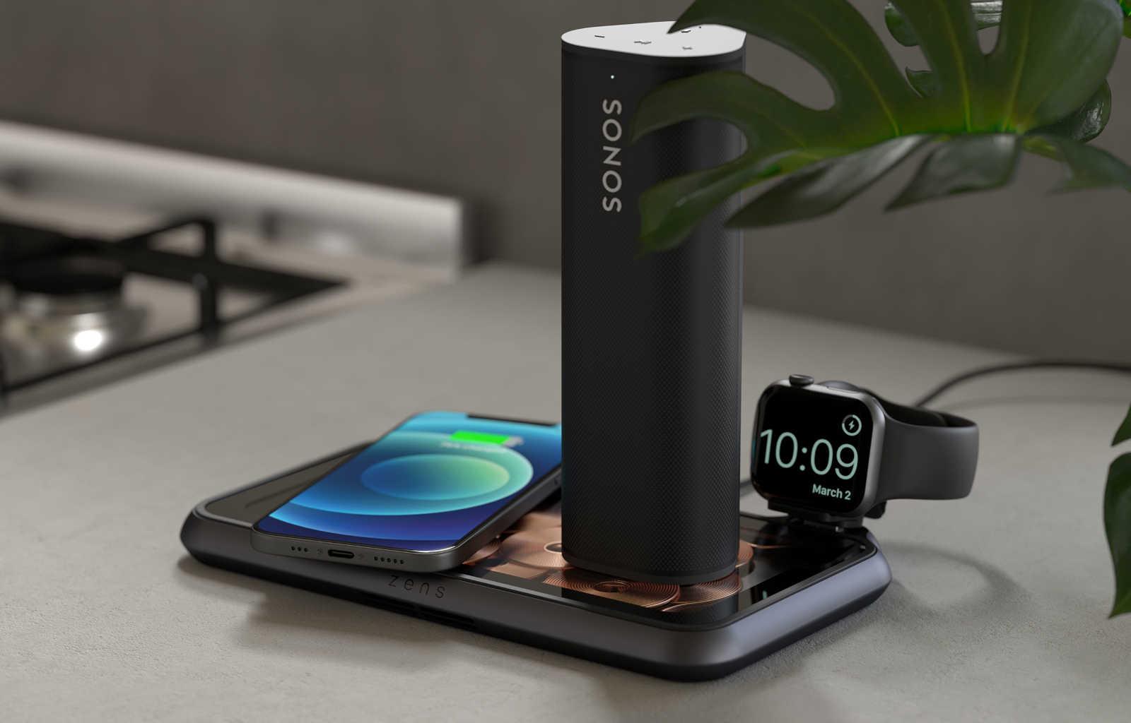 Wireless charging sonos