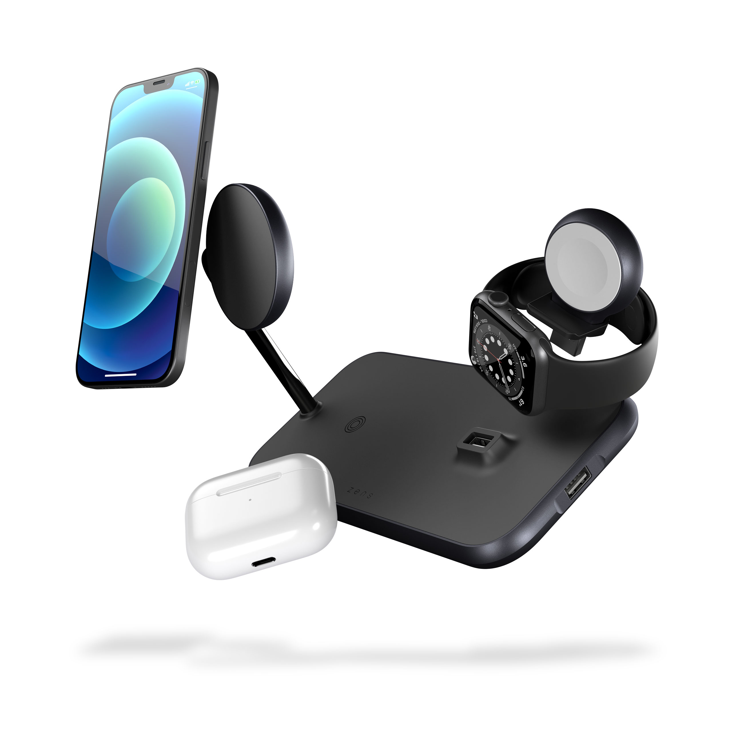 Magnetic + Watch Wireless Charger floating devices