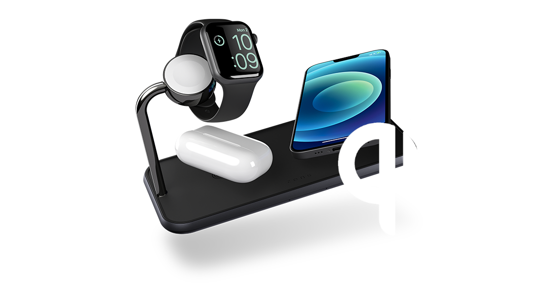 qi charger with logo