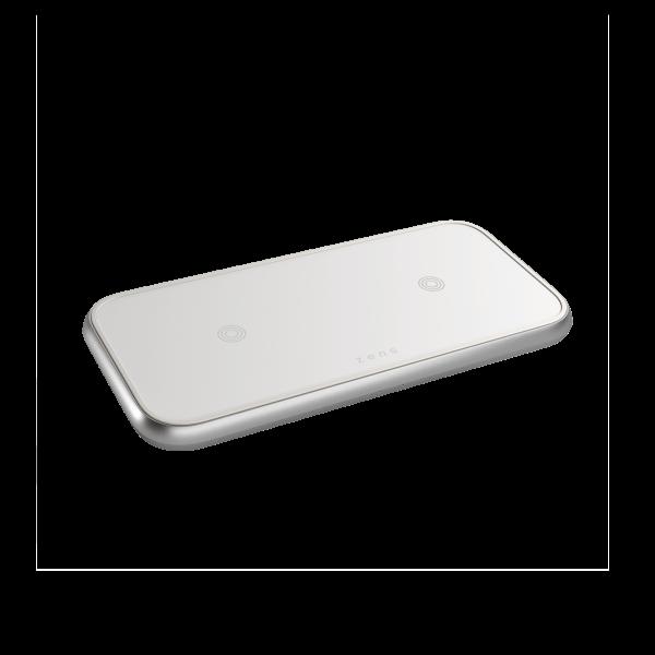 ZEDC10W - Zens Dual Aluminium Wireless Charger Front Side View