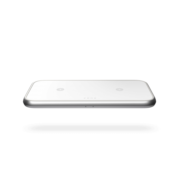 Dual wireless charger white