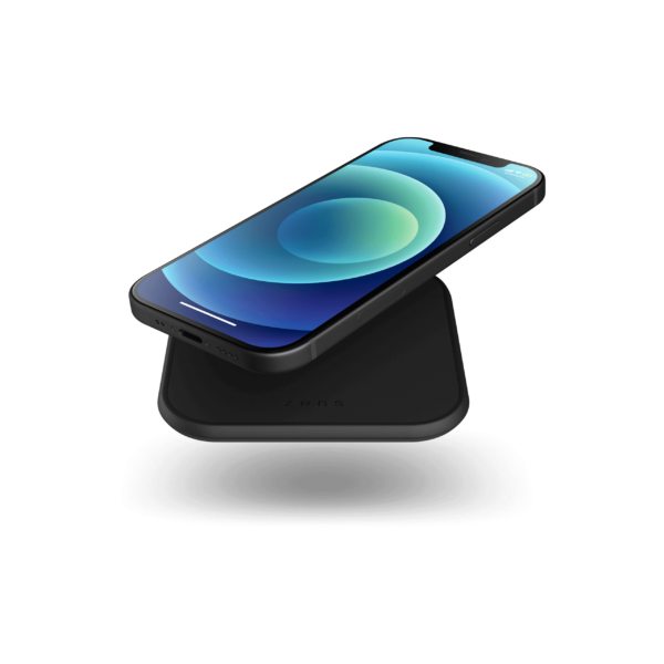 Zens single wireless charger slim line with devices